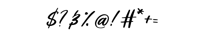 Loosy Brush Regular Font OTHER CHARS