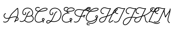 Lorena In Westfalen Script Font UPPERCASE