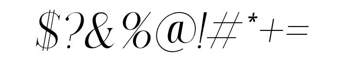 Lorena-Italic Font OTHER CHARS