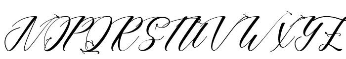 LotherdayScript Font UPPERCASE