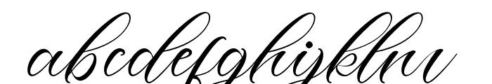 LotherdayScript Font LOWERCASE