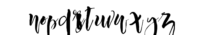 LovableScript-Regular Font LOWERCASE