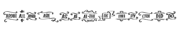 Love & Stuff Extras Font LOWERCASE