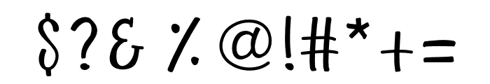 LoveAvailable Font OTHER CHARS