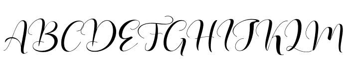 Lovea Script Font UPPERCASE