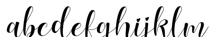Lovea Script Font LOWERCASE