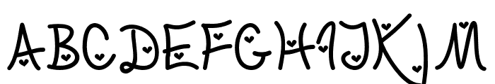 LoveandTrustHearted Font UPPERCASE