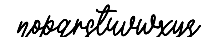 Lovely Garland Font LOWERCASE