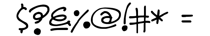 Lovely Grooves Font OTHER CHARS