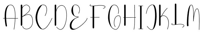 Lovely Laila Font UPPERCASE