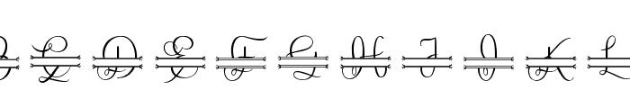 Lovely Monogram Font UPPERCASE