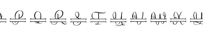 Lovely Monogram Font LOWERCASE
