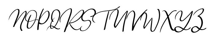 Lovely Rainy Font UPPERCASE