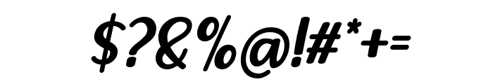 Lovely Strawberry Italic Font OTHER CHARS
