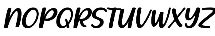 Lovely Strawberry Italic Font UPPERCASE