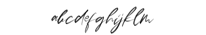 Lovers Brooks Rough Font LOWERCASE