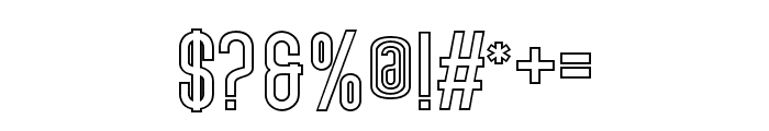 Lovers Brooks Sans Outline Font OTHER CHARS