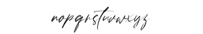 LoversBrooksRough Font LOWERCASE