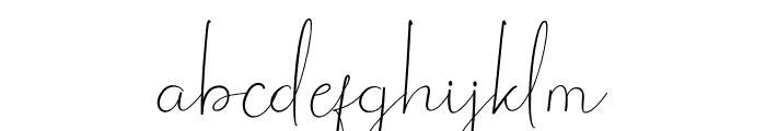 Lucy Warrent Font LOWERCASE