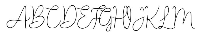 Lucylane Font UPPERCASE