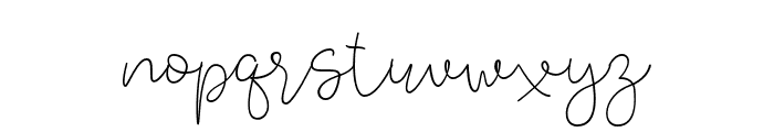 Lucylane Font LOWERCASE