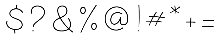 LunarCone-Line Font OTHER CHARS