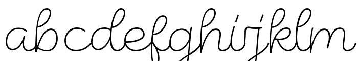 LunarCone-Line Font LOWERCASE