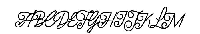 Luxury Quality Font UPPERCASE