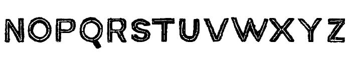MACABROOUTLINEROUGH Font UPPERCASE