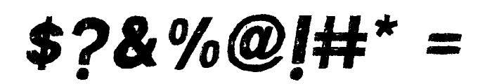 MACABROROUGHITALIC Font OTHER CHARS