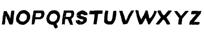 MACABROROUGHITALIC Font UPPERCASE