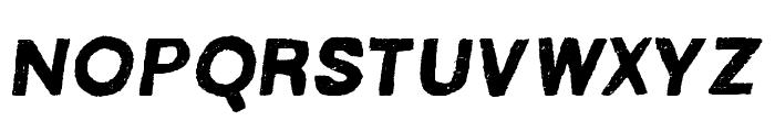 MACABROROUGHITALIC Font LOWERCASE