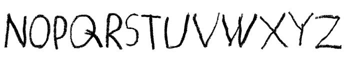 MATILDAS GRADE SCHOOL HAND_print Font UPPERCASE