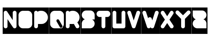 MAXIMUM KILOMETER-Filled-Invers Font UPPERCASE