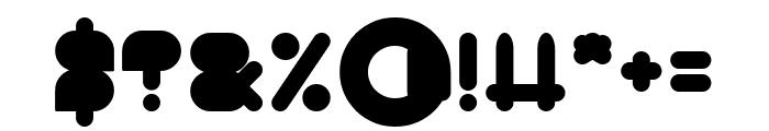 MAXIMUM KILOMETER-Filled Font OTHER CHARS