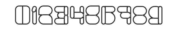 MAXIMUM KILOMETER-Hollow Font OTHER CHARS