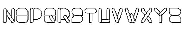 MAXIMUM KILOMETER-Hollow Font UPPERCASE