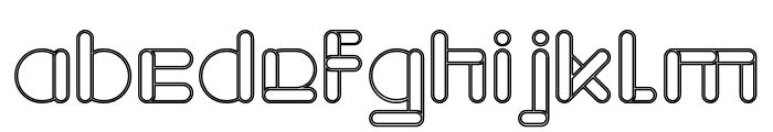 MAXIMUM KILOMETER-Hollow Font LOWERCASE
