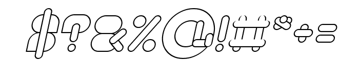 MAXIMUM KILOMETER Italic Font OTHER CHARS