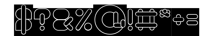 MAXIMUM KILOMETER-inverse Font OTHER CHARS