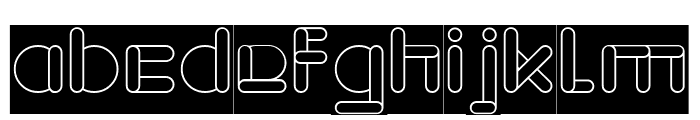 MAXIMUM KILOMETER-inverse Font LOWERCASE