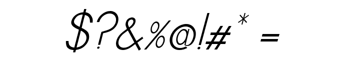 MBA16 Italic Font OTHER CHARS