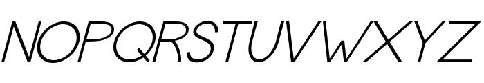 MBA16 Italic Font UPPERCASE