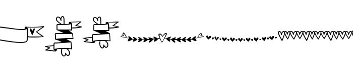 MFHeartStuff Font LOWERCASE
