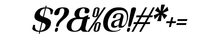 MOODERN Italic Font OTHER CHARS