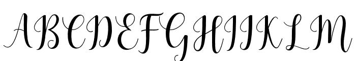 MadelinaScript Font UPPERCASE