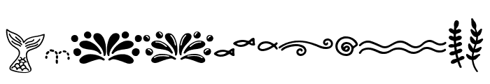 Madison's tail doodles Font UPPERCASE