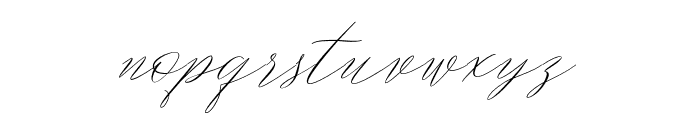 MagarellaScript-Regular Font LOWERCASE