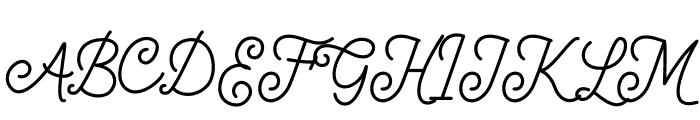 Majorette Font UPPERCASE