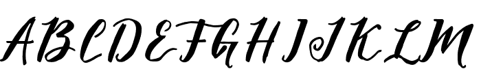 MalagaDiary Font UPPERCASE